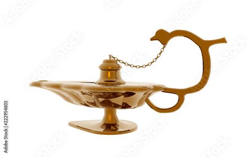Fotografie, Obraz  Antike orientalische Öllampe
