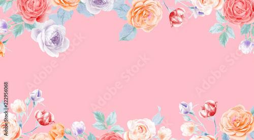 akwarelowy-olowek-rozy-peoni-kwiat-i-liscie