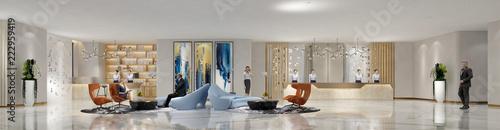 3d render hotel interior