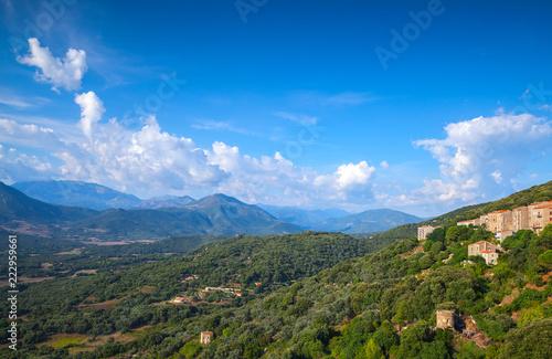 Mountain summer landscape. Corsica island