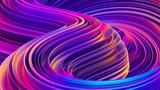 Płynne kształty abstrakcyjne holograficzne faliste tło 3D