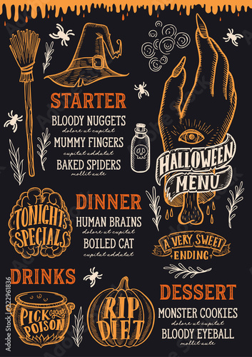 halloweenowe-menu-z-pomaranczowymi-elementami