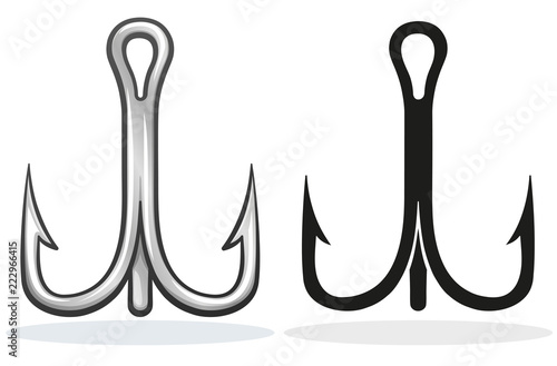 Fotografie, Obraz  Vector fish hook design cartoon