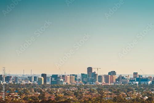Tuinposter Oceanië Adelaide city skyline