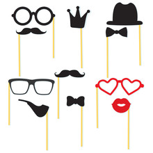 Diverse Collection Of Photo Booth Props Party Elements