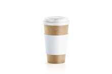 Blank Craft Paper Cup With Whi...