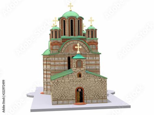 Fotografia  Kirche mit Glockenturm
