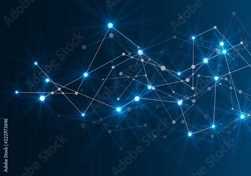 Fotografía  Abstract futuristic network. Vector illustration.