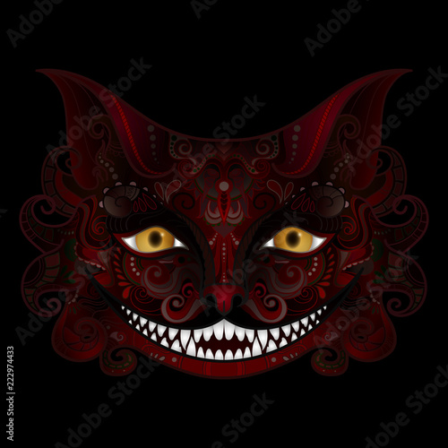 Fotografia, Obraz Vector Cheshire Cat Grin