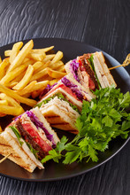 Low Fat Club Sandwiches With C...
