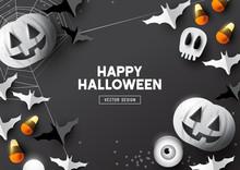 Happy Halloween Top View Backg...