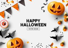 Happy Halloween Party Label/ I...