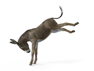 3d prikazana ilustracija magarca
