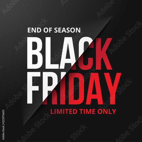 Black friday sale banner. Vector illustration Fototapete