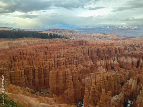 Staande foto Canyon Dramatic landscape with Bryce canyon USA.