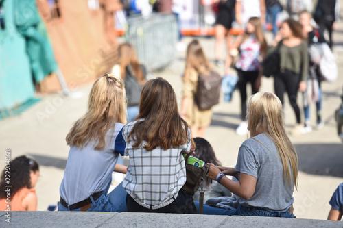 Photo  université etudiants jeunes adolescent