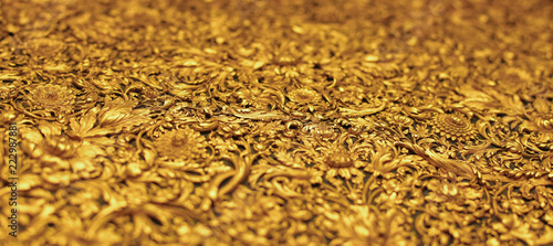 Website heading and banner of golden molding antique Canvas-taulu