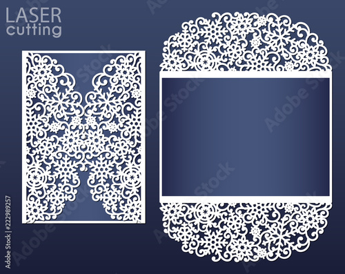 Christmas Cutout Patterns.Laser Cut Wedding Card Template Suitable For Christmas