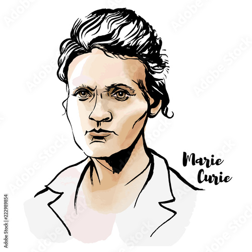 Marie Curie Wallpaper Mural