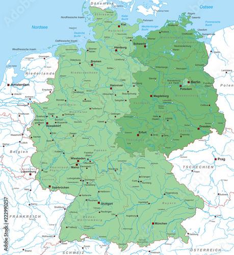 west ost deutschland karte Karte von Deutschland   Ost/ West   Neue Bundesländer   interaktiv
