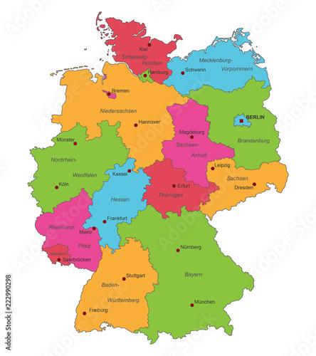 Karte Von Deutschland Politische Karte Interaktiv Buy This