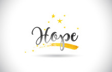 Hope Word Vector Text With Gol...