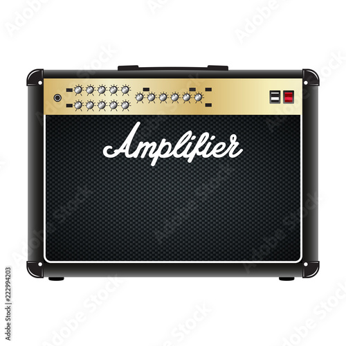 Photo Guitar combo amplifier, amp.