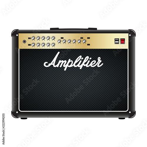 Slika na platnu Guitar combo amplifier, amp.