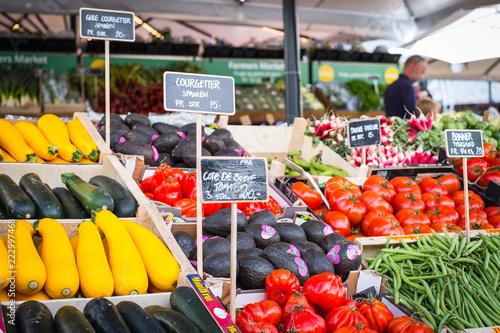 Fotografie, Obraz  Fresh produce for sale in Copenhagen Denmark market