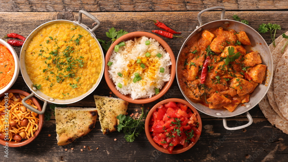 Fototapety, obrazy: assorted india food cuisine