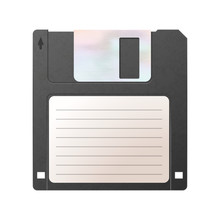 Realistic Detailed Floppy-disk...