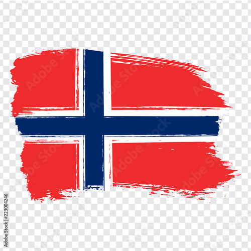 Photo  Flag Norway, brush stroke background