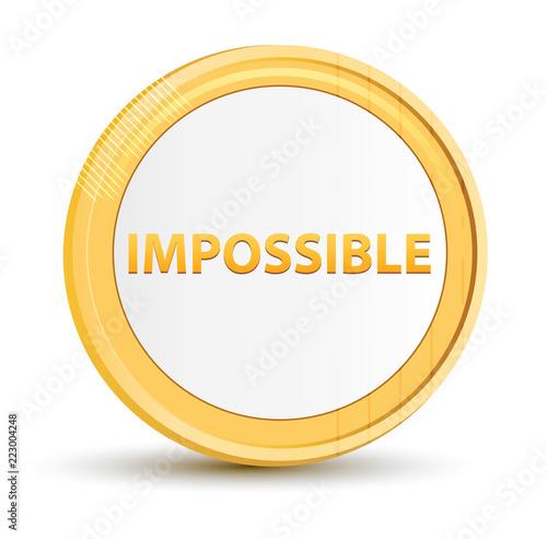 Fotografie, Obraz  Impossible gold round button