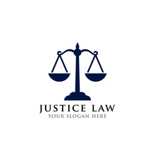 Scales Vector Illustration. Attorney Logo Vector Design. Justice Law Logo Design Template