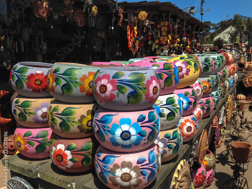 Handmade souvenirs in the old town San Diego State Historic Park.