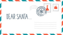 Dear Santa Christmas Letter In...