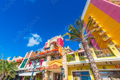 Foto op Canvas Asia land 沖縄のアメリカンビレッジ American Village in Okinawa, Japan
