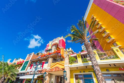 Fototapeta premium American Village na Okinawie w Japonii