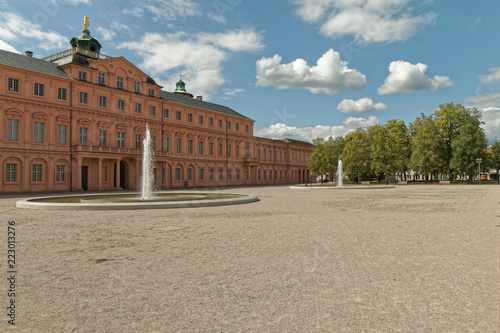 Foto  Germany - fragment of the palace with fountains in Rastatt.