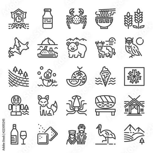 Photo hokkaido pixel perfect icons