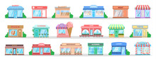 Store Building Set. Collection Of City Objects.