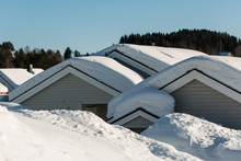 Roofs Covered With Thick Snow ...