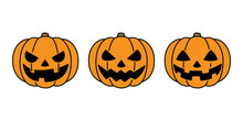 Pumpkin Halloween Vector Icon Logo Ghost Character Cartoon Illustration