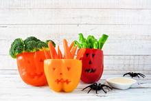 Healthy Halloween Food. Vegeta...
