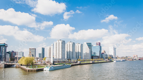 Keuken foto achterwand Stad gebouw Business buildings in the economic capital of the Netherlands, Rotterdam