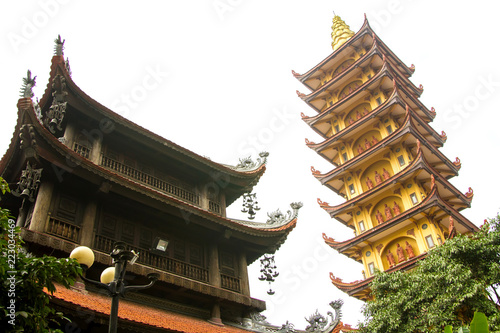 Spoed Foto op Canvas Bedehuis Pagoda of Pho Chieu Temple in Hai Phong, Vietnam