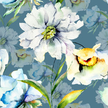 Seamless Pattern With Summer F...