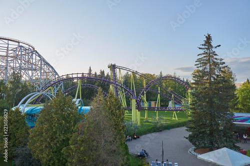 Poster Amusementspark Amusement park from a height
