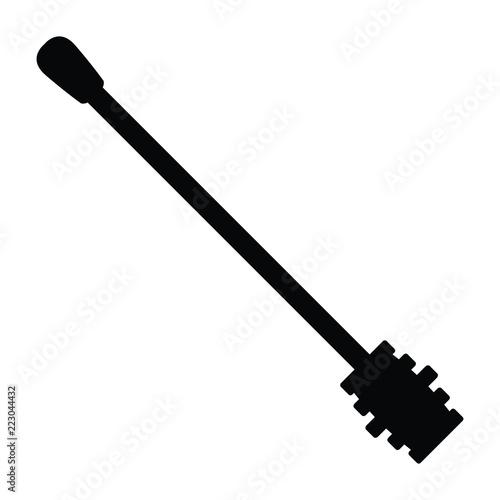 Pinturas sobre lienzo  A black and white silhouette of a honey dipper utensil