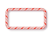 Christmas Candy Frame Isolated...